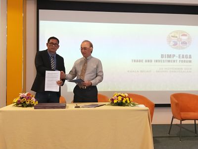 Signing of MOU between Zamboanga Del Sur II Electric Cooperative, Inc., Mr. Rico O. Calonge and T.S. Renewable Energy Solutions Pte Ltd., Mr. Danny Hoon